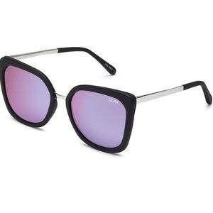 Quay Capricorn Black and Purple Sunglasses
